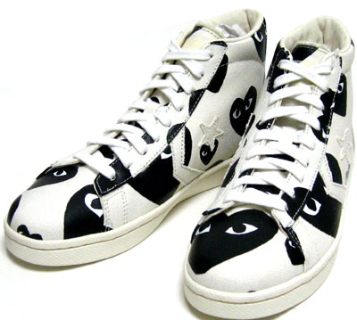 COMME Des GARCONS PLAY CONVERSE Pro Leather HIGH